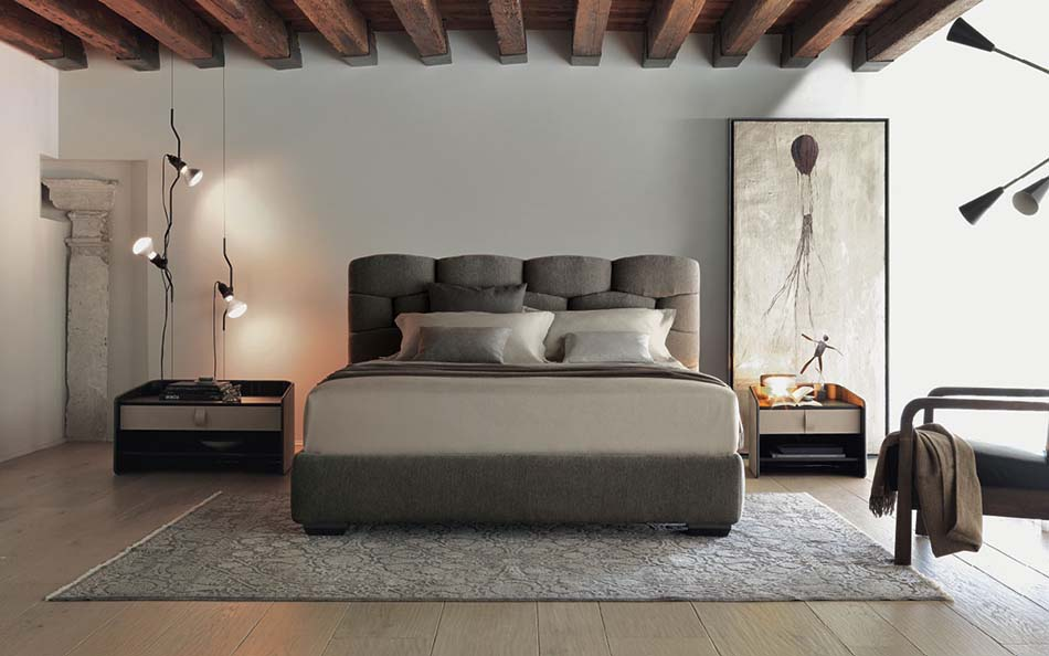 Flou Letti design moderni Majal – Arredamenti ExpoWeb