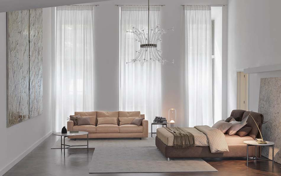 Flou Letti design moderni Nathalie 4- Arredamenti ExpoWeb